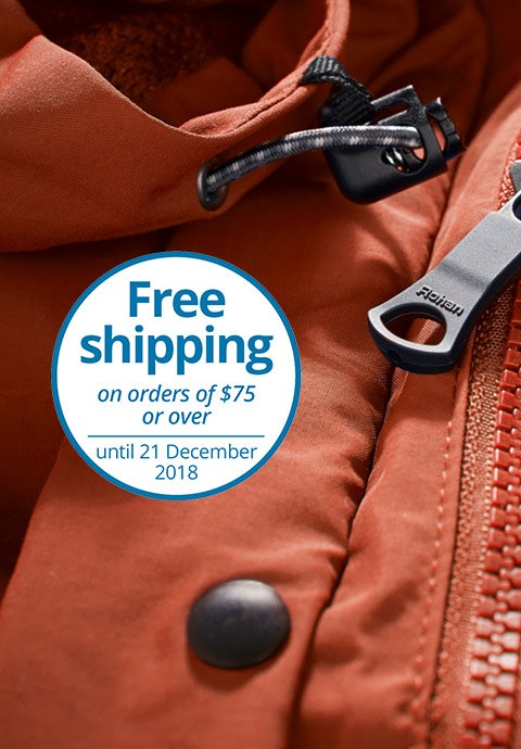 Free shipping on orders of $75 or over