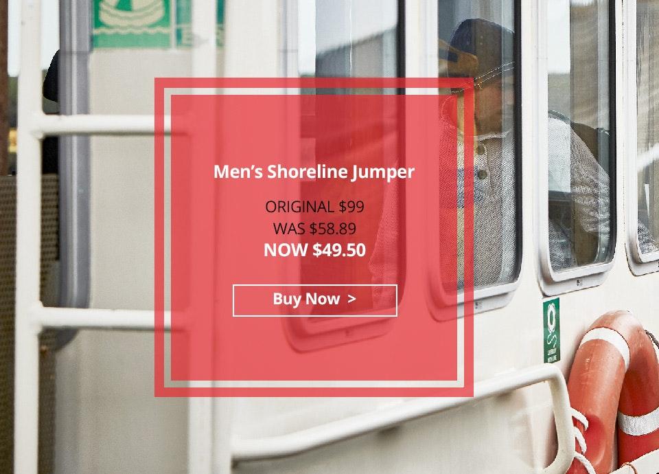 Men's Shoreline Jumper. Now $49.50.