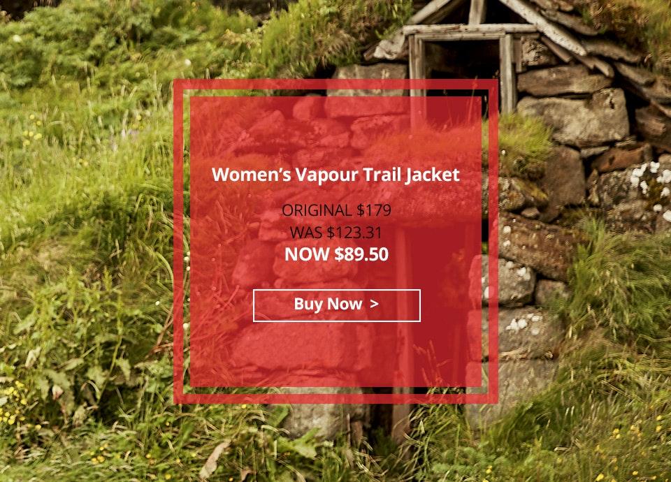 Women's Vapour Trail Jacket. $89.50.