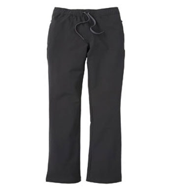 Pull-on, shower resistant walking trousers.