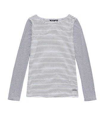 Casual technical top for travel, outdoors and every day.
