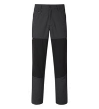 Tough trekking trousers with stretch panels.