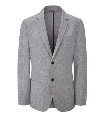 Technical, smart/casual linen jacket.