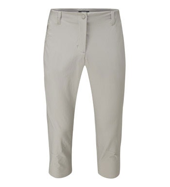 Versatile, high-stretch capri trousers.