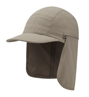 Insect repellent sun cap with cowl.
