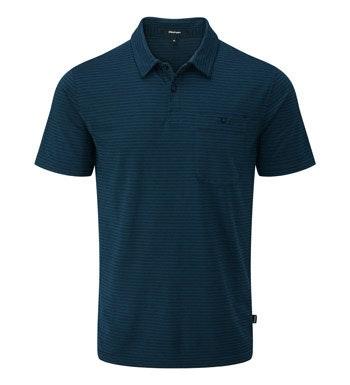 Technical, cotton-feel, short sleeve polo.