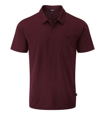 Technical, cotton-feel, short sleeve polo.