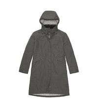 Waterproof, fully wadded, ¾ length coat.