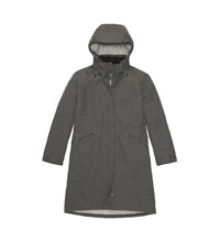 Waterproof, fully wadded, ¾ length coat.