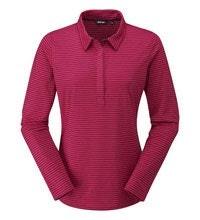 Cotton-feel, technical long sleeve polo.