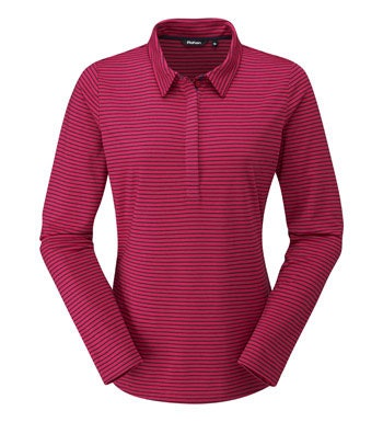 Cotton-feel, technical long sleeve polo.