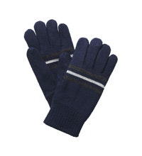 Reflective, fleece lined gloves.