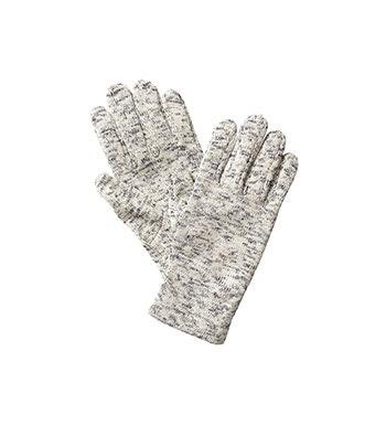 Functional, warm fleece gloves.