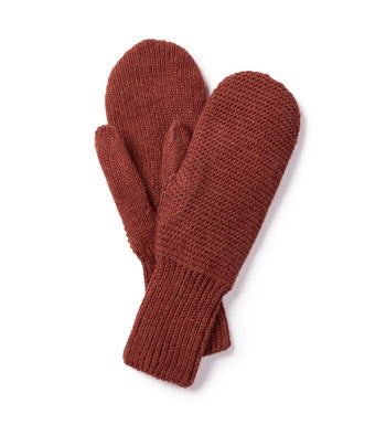 Soft, lined, knit-effect mittens.