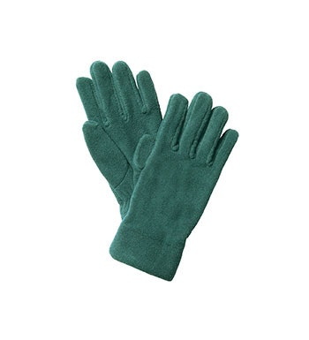 Technical gloves with high pile fleece lining.