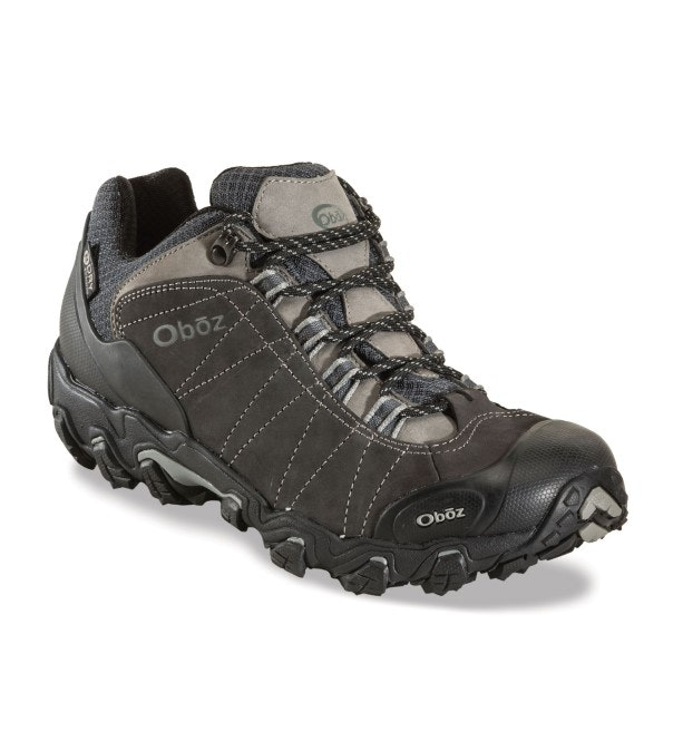 Oboz Bridger Low B Dry - Rugged, waterproof, mid-height trekking shoe.