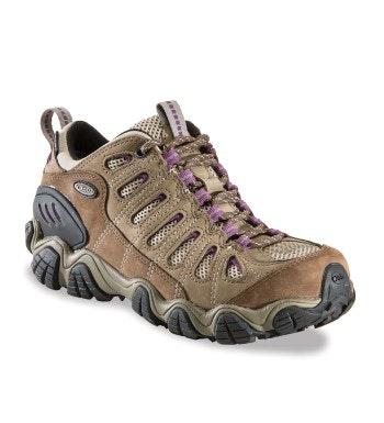Waterproof, lightweight, technical trekking shoe.