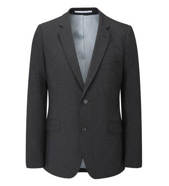 Machine washable, technical travel suit jacket.