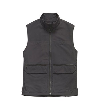 Durable, multi-pocket canvas vest.