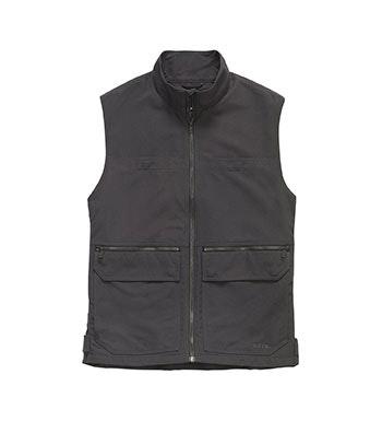 Durable, multi-pocket canvas vest.