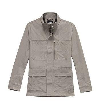 Practical, 10-pocket canvas jacket.