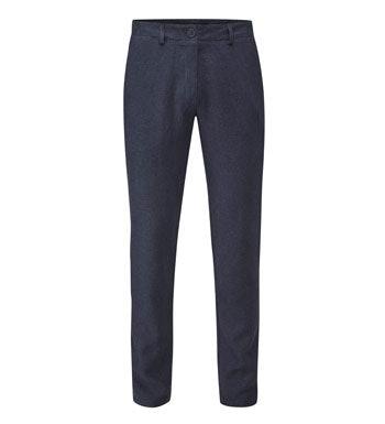 Easycare, linen-blend trousers.