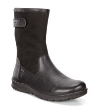 Mid-cut slip-on leather boot.