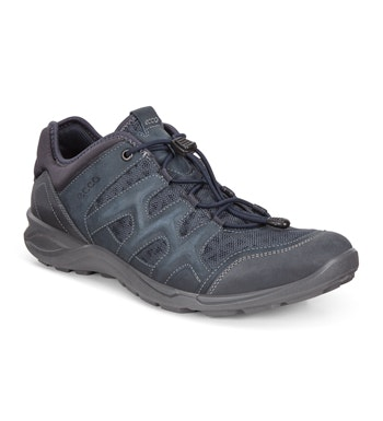 Lightweight mesh and leather outdoor trainers.