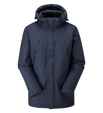 Waterproof, wadded winter coat.