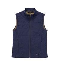 Lightweight, water-repellent wadded vest.