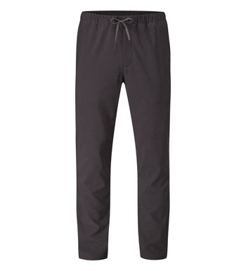 Water repellent walking trousers with elasticated, tie waist.