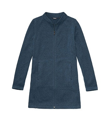 Cosy, longer-length fleece jacket for travel and everyday.