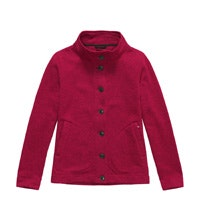 Lightweight, button-through fleece cardigan.
