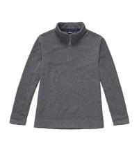 Warm wool-blend pullover with half zip.