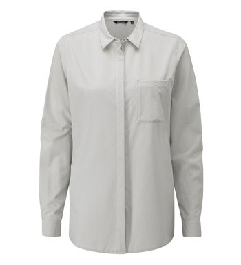 Versatile, easycare travel shirt.