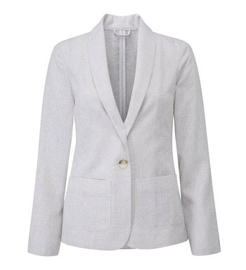 Smart, casual linen travel jacket.
