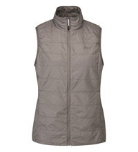 Lightweight, insulated vest for travel and active outdoor wear.