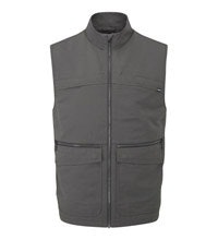 Rugged multi-pocketed travel vest.