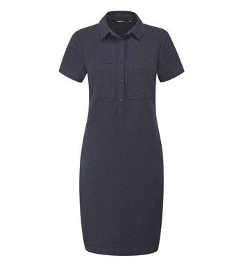 Relaxed fit linen-blend dress.
