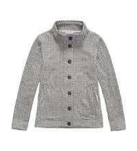 Relaxed, functional fleece cardigan.