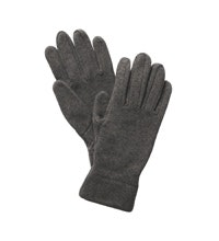Quick-drying knit-effect fleece gloves.