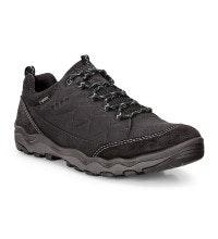 Low-cut, waterproof nubuck walking shoe.