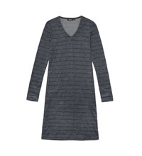 Technical, wool-blend travel dress.