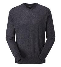 Classic, 100% merino v-neck pullover.