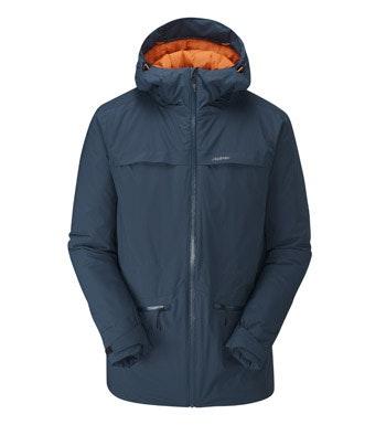 Heavy duty wadded waterproof jacket.