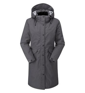 Waterproof, fully wadded, 3/4 length coat.