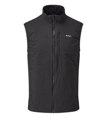 Lightweight, water-repellent wadded vest.