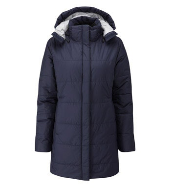 Insulated, water-repellent coat for cold weather.