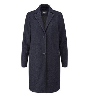 Wadded premium Italian wool blend washable coat.
