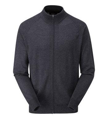 Classic, 100% merino zip jacket.